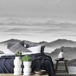 Déco brume dans les montagnes