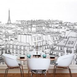 Papier peint dessin de Paris