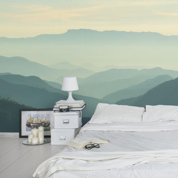 Décoratif brouillard aux montagnes