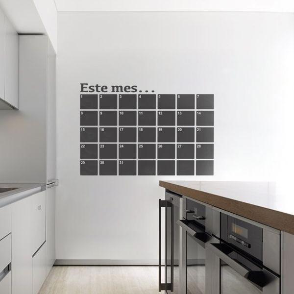 Sticker ardoise calendrier du mois