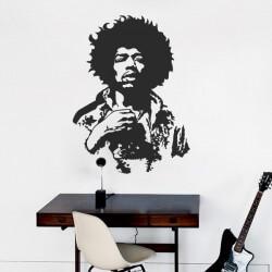 Adhésif mural Jimmy Hendrix