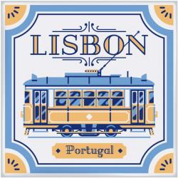 Sticker Mural tuile de Lisbonne