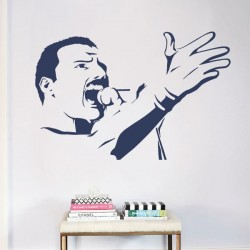 Sticker mural Freddie Mercury