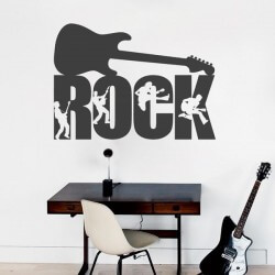Sticker mural guitare rock