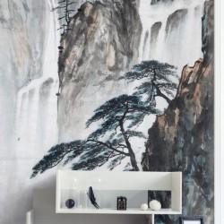 Adhésif dessin chutes d'eau