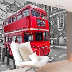 Adhésif mural bus à Londres