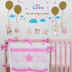Sticker my love ballons