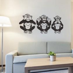 Sticker trois singes