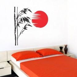 Sticker bambou avec lune