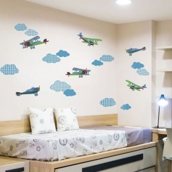 Sticker enfant avions