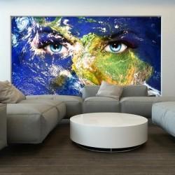 Papier peint yeux du monde