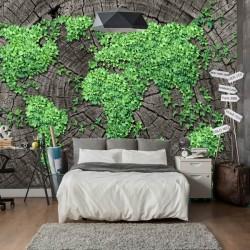 Papier peint monde botanique