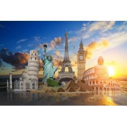 Adhésif monuments du monde