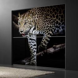 Adhésif mural léopard...