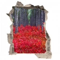 Adhésif illusion d'optique forêt