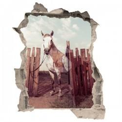 Sticker illusion d'optique cheval