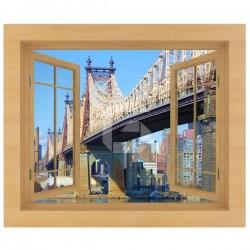 Sticker fenêtre pont de Queensboro