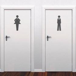 Sticker silhouettes de wc