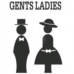 Sticker déco silhouettes de wc 2