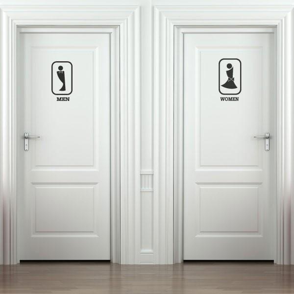 Autocollant silhouettes de wc 3