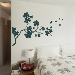 Sticker branche avec fleur 2