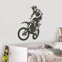 Sticker mural motocross