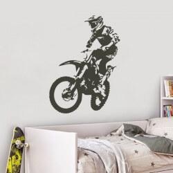 Sticker mural motocross