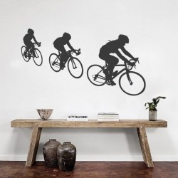 Sticker de sport cyclistes