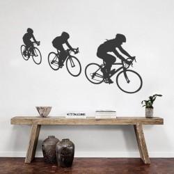 Sticker de sport cyclistes