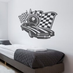 Sticker mural muscle voitures