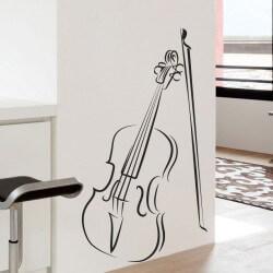 Sticker de musique avec violon