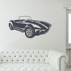 Adhésif mural voiture cobra
