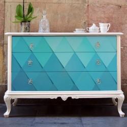 Sticker meubles texture...