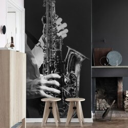 Adhésif mural saxophone jazz