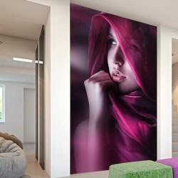 Adhésif mural femme voilée