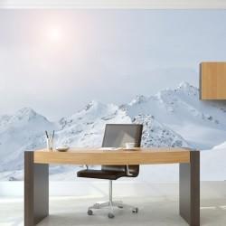 Déco murale montagnes blanches