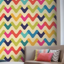 Papier peint vagues colorées
