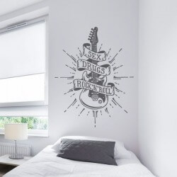 Sticker mural Rock N`Roll