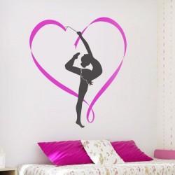 Sticker mural gymnaste
