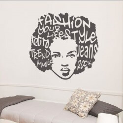 Sticker pop art femme