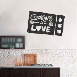 Sticker phrases cooking is...