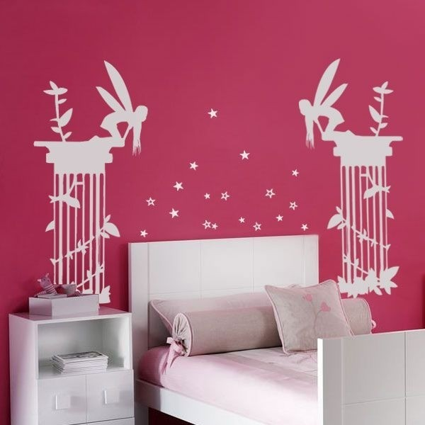 Adhésif mural fées et étoiles 1