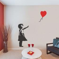 Adhésif Banksy fille avec...