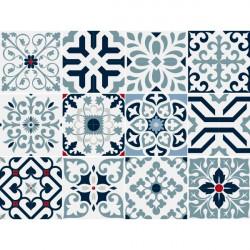 Stickers Carreaux couleur pastel