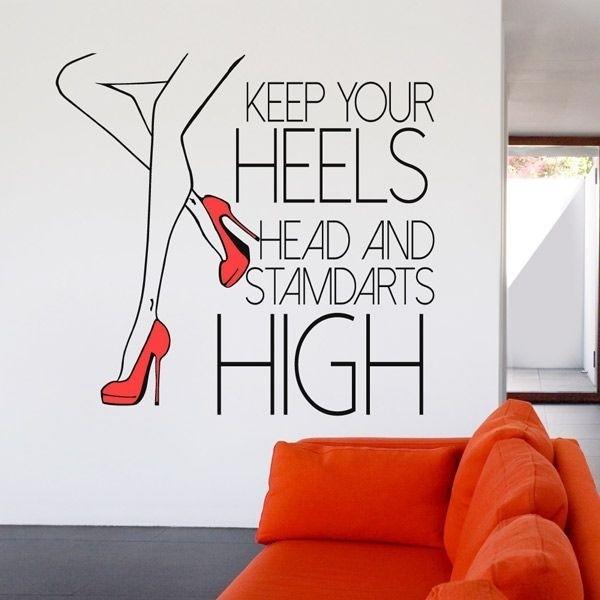 Sticker de phrases Keep Your Heels