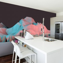 Papier peint montagne 3D