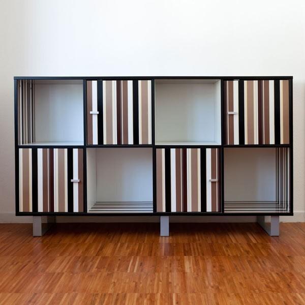 Lignes brunes stickers pour votre meuble - Stickers pour meuble ...