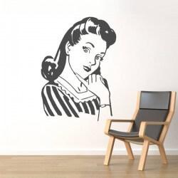 Sticker femme des années 60