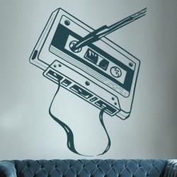 Sticker mural la cassette