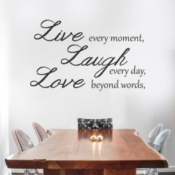 Sticker de phrases live,...